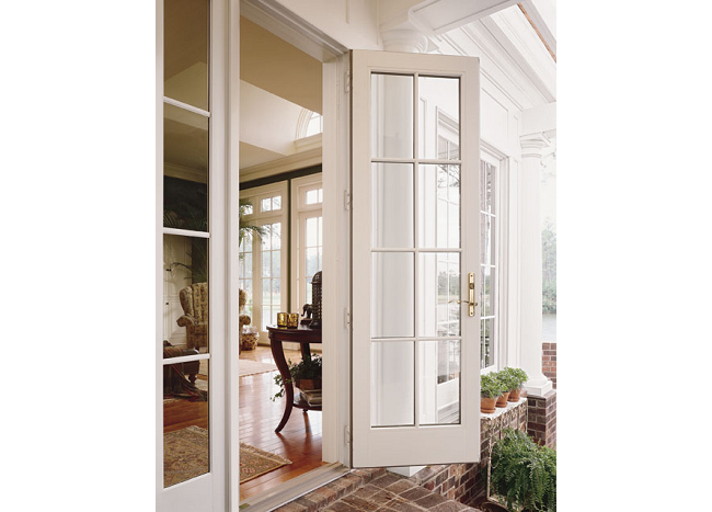 Andersen 400 Series Frenchwood Outswing Patio Door with Sidelights and Colonial Grilles  sc 1 st  Gallery of Moulding Millwork Window Interior Doors Entry Doors ... & Gallery of Moulding Millwork Window Interior Doors Entry Doors ...